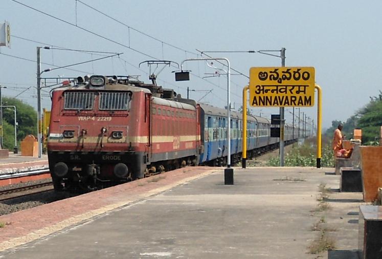 trains to annavram
